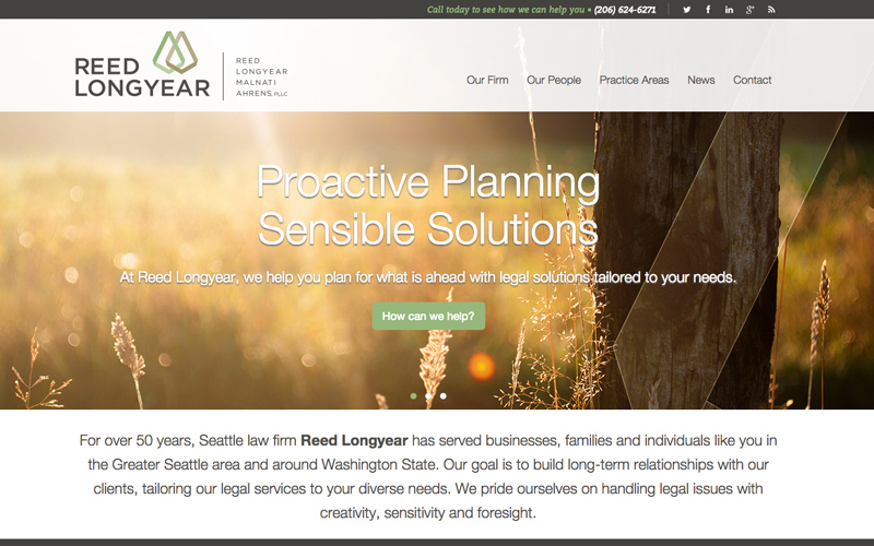 Best Law Firm Websites, Reed Longyear Law