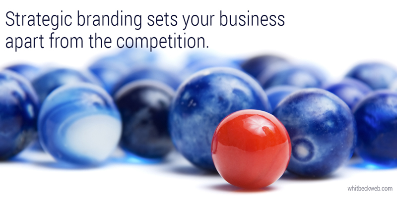 strategic branding success quote graphic