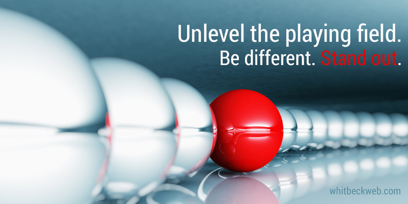 standing out with inbound marketing graphic
