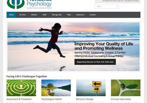 Providence Psychology Website Design
