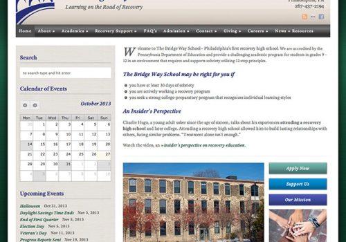 The Bridge Way School Website Homepage