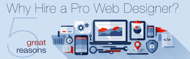 Hire A Pro Web Design Graphic