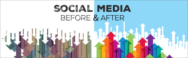 Social Media Marketing Before And After Graphic