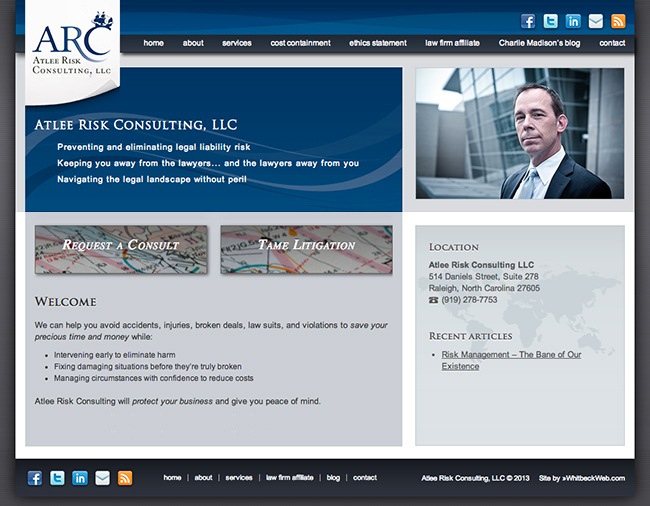 Law Firm Website Design Homepage