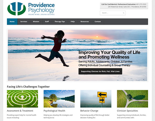 Providence Psychology website design