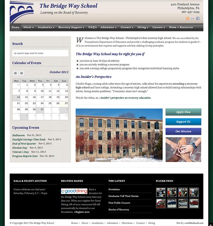 School Website Homepage